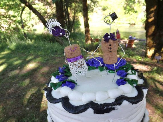 Hey, I found this really awesome Etsy listing at https://www.etsy.com/listing/190441265/champagne-cork-wedding-cake-toppers-wine