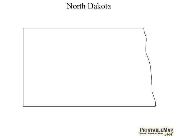 north dakota state outline