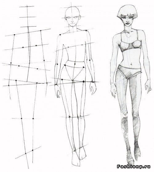 В помощь начинающему иллюстратору / как нарисовать силуэт для эскизов