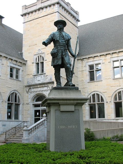 louis joliet statue joliet il via flickr