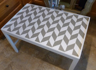 herringbone table top