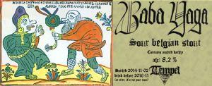 BABA YAGA  Hon är en av tre systrar med samma namn. Alla tre är häxor som bor i den djupa skogen i ett hus stående på hönsben (för att kunna se åt alla håll) omgärdat av ett staket gjort av människoben. Hon tar sig fram genom att flyga i en mortel. I litteraturen och folktraditionen är hon mångfacetterad och associeras med döden, månen, moln, vinter, ormar, fåglar, pelikaner, jordens gudinna och en slags kvinnlig urmoder.  Detta är en surstout på 8,2%, bryggd med en hel drös med mörk malt…