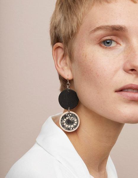 Aarikka Moomin Magic Garden earrings, big: Moomin Magic Garden earrings, big