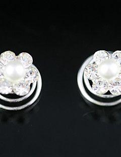 Headpieces In 2 Pieces Gorgeous Rhinestones/ Imitation Pearl Wedding Headpieces