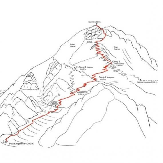 Aconcagua Ameghino route
