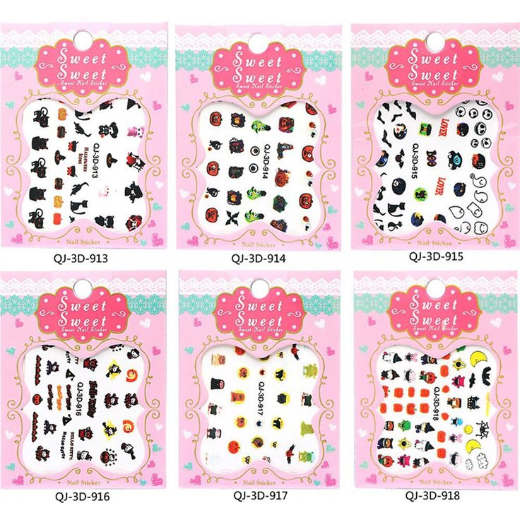 Halloween 12 Sheets 3D Water Transfer Nail Art Stickers Manicure Tips Decals DIY Decoration Sexy Nail Art Accessories BN138 Price: USD 2.88 | United States