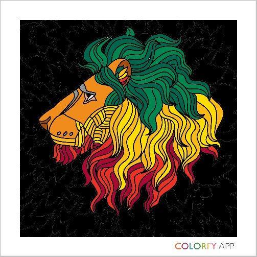 León con bandera de etiopia