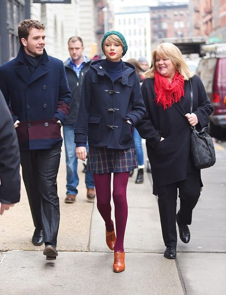 Out in New York City with her family. See Taylor Swift's full fashion evolution, from sequins in 2007 to her many crop tops today.