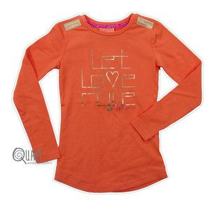 #Quapi #Annelin #Oranje  Mooi oranje shirt uit de wintercollectie 2014/2015 van het merk Quapi Kidswear  www.lotenlynn.nl