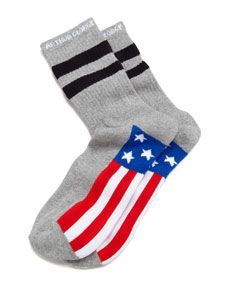 America Mens Socks, Heather Charcoal