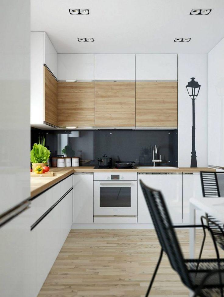 Kisebb alapterlet konyha magasfny fehr s fa