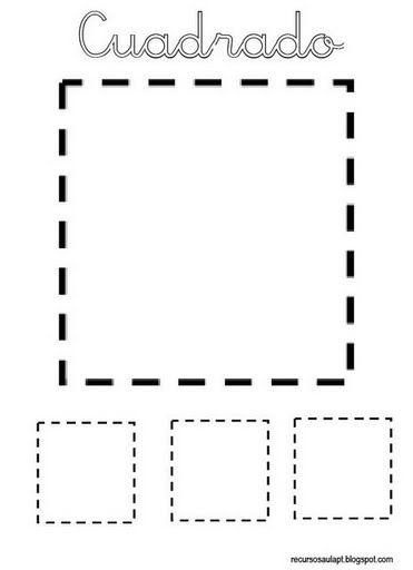 cuadrado formas geometricas infantiles fichas de formas gratis  para niños