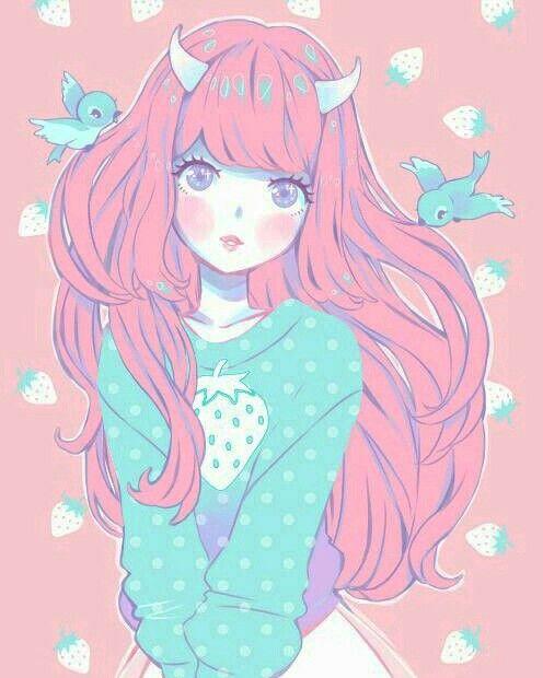 Pastel anime monster girl