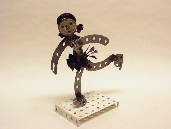 Ice Skater by John Bader, from a model in Meccano Magazine