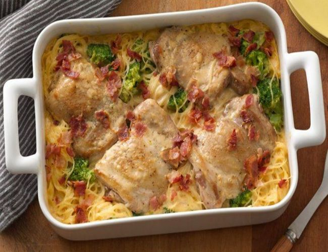 Smothered Chicken Casserole – Healthy and Fit – Healthy To Fit