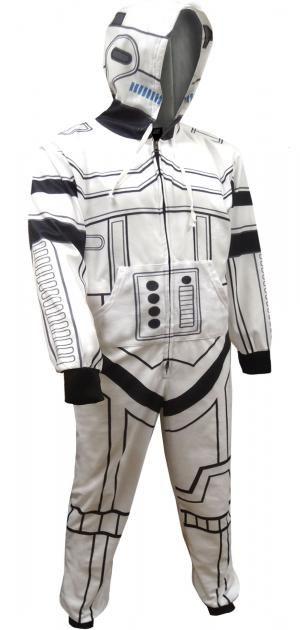 Star Wars Look Like A Storm Trooper Hooded Union Suit Pajama