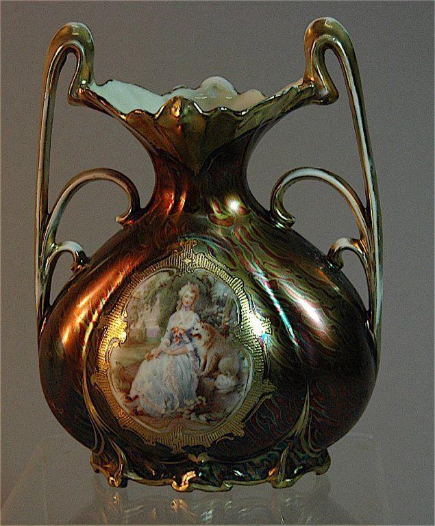 Royal Vienna Porcelain Portrait Vase