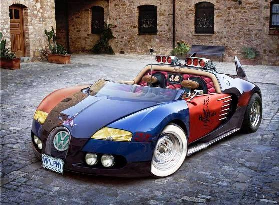 Bugatti  VeyRat  (Ugly Car)   by  Zykotec -  2012