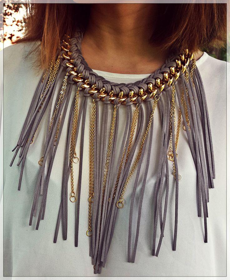 Leather necklace Fire de Murg