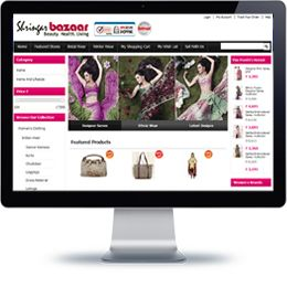 Sringar Bazaar website built with E-commerce.