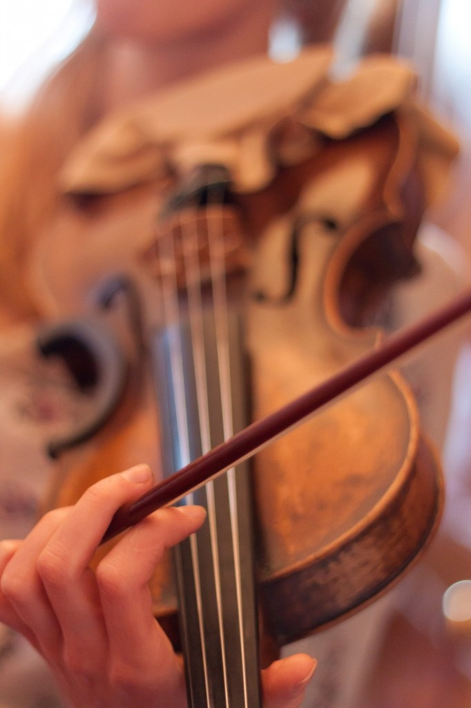 I love the sound of violins - I dream of playing beautifully one day (I play horribly at the moment... but I love to hear it be played! My favorite instrument)!