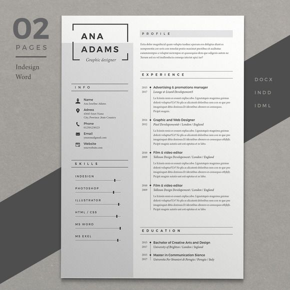 @newkoko2020 Resume Ana by Estartshop on @creativemarket