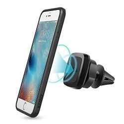 Car Mount, Anker Air Vent Magnetic Phone Holder for iPhone, Samsung, LG, Nexus, HTC, Motorola, Sony, Nokia and Other Smartphones (Black)