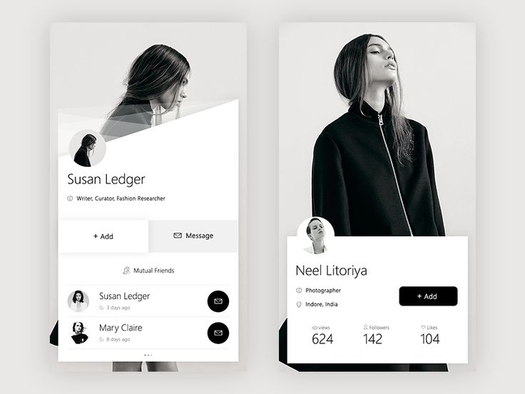 Profile Page Inspiration — Muzli -Design Inspiration — Medium