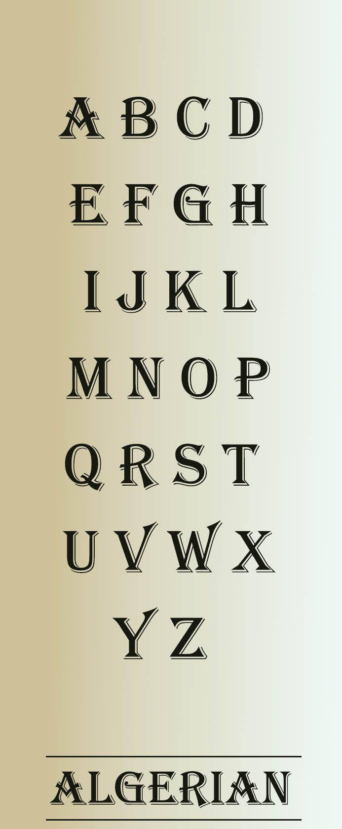 Algerian Font typographie #hochzeitseinladungen