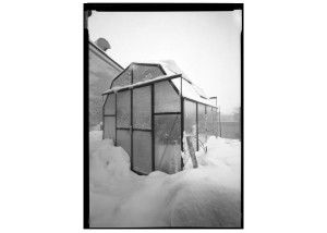 Grandio Elite Greenhouse installed on a roof in Brooklyn, NY. Check out that snow.