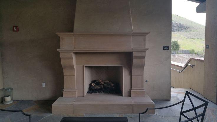 Grandeur Custom Cast Stone Fireplace Mantel (mantle) Surround #HearthCo #Modern