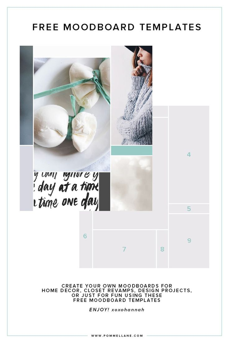 Free Moodboard Templates! Click to download from www.pommellane.com #freebie #freedownload #blogging #moodboard