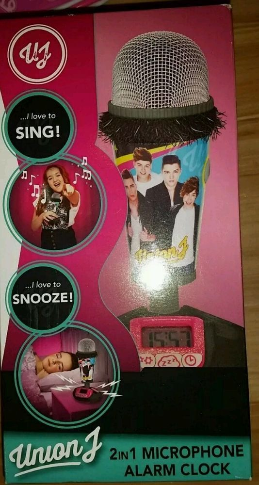 PoP Music Stars boy band Union j two-in-one  microphone & alarm clock RRP £21.99