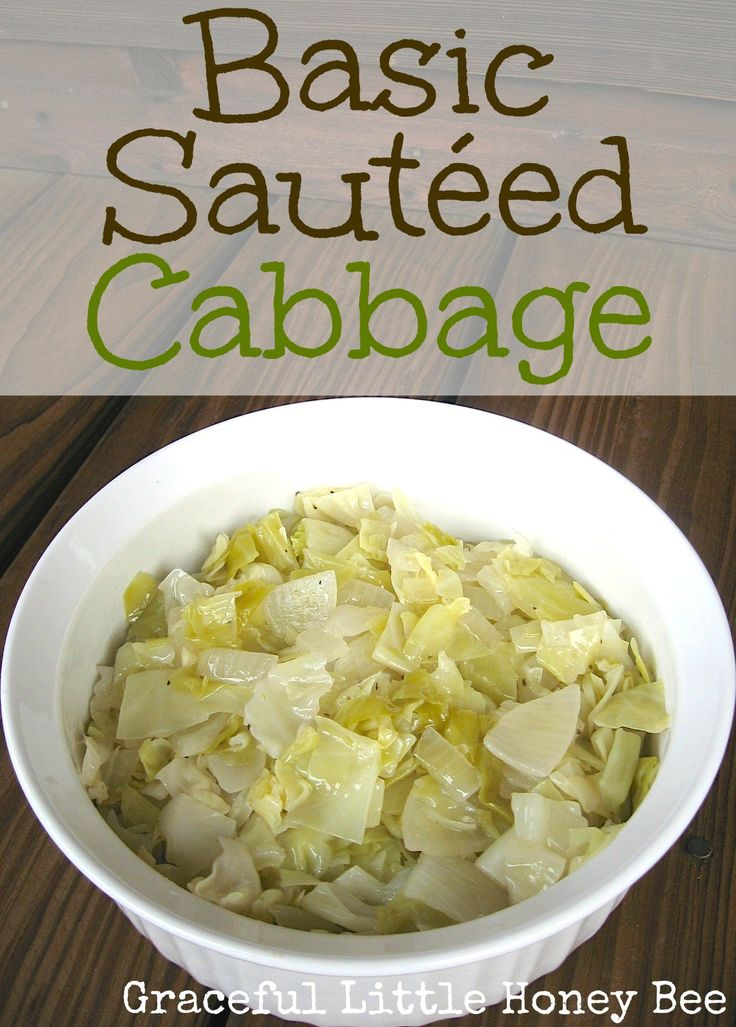This sautéed cabbage recipe is simple, but seriously good! Use coconut oil!