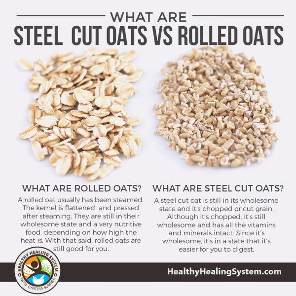 What Are Steel Cut Oats vs Rolled Oats