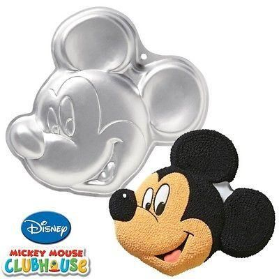 This Mickey Mouse cake pan is easy to use and comes with instructions. The pan can take any 2-layer cake mix. Perfect for birthdays, bake sales, and more!