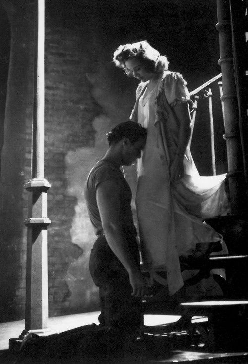 glamoramamama75:  bcollis:  The iconic image of Brando as Stanley in A Streetcar Named Desire  ❤️  The actress playing Stella is Kim Hunter.