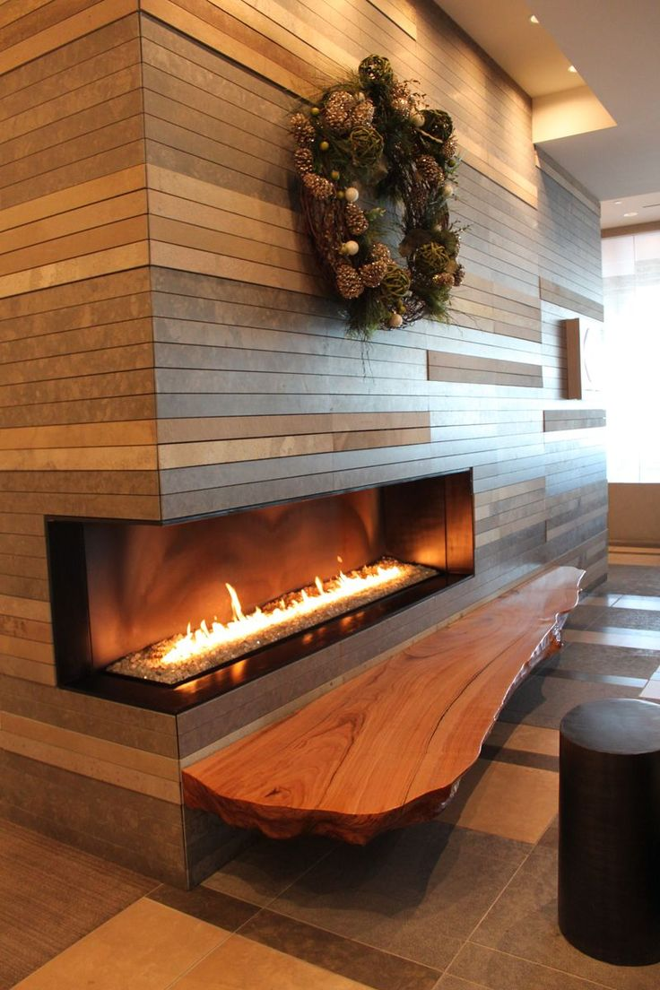 I Love The Rough Hewn Wood Slab Ledge To Sit On In Front