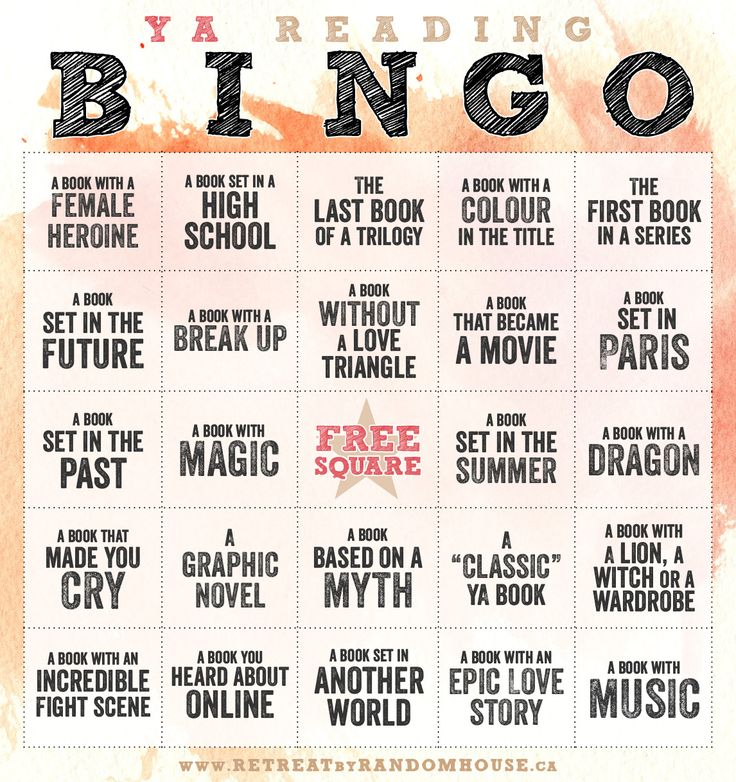 And this is YA Reading Bingo 2014
