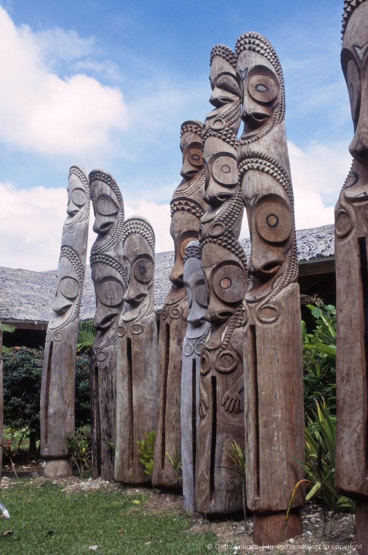 Traditional tam tam wooden carvings, Port Vila, Vanuatu