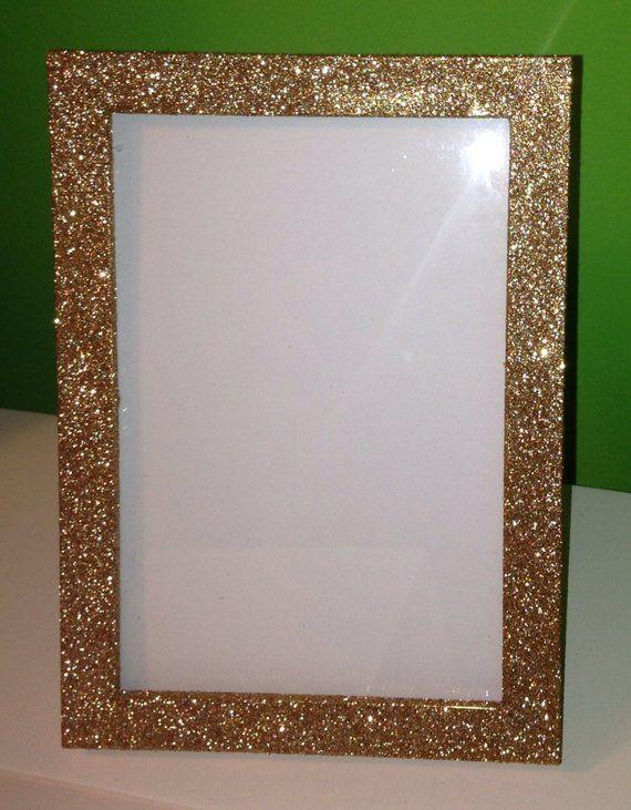 5 Sparkly Glitter 5x7 Frames Bling Wedding Table Number Frames