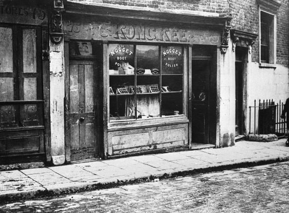 A Chinese Shop in Pennyfields, just off the West India Dock Road in 1924.