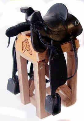 Artisan Dollhouse Miniature Western Black Saddle Bags