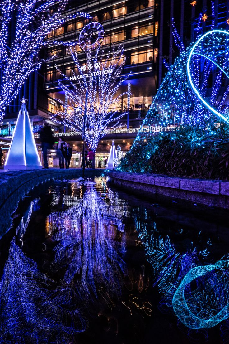 Holiday Lights in Fukuoka, Japan