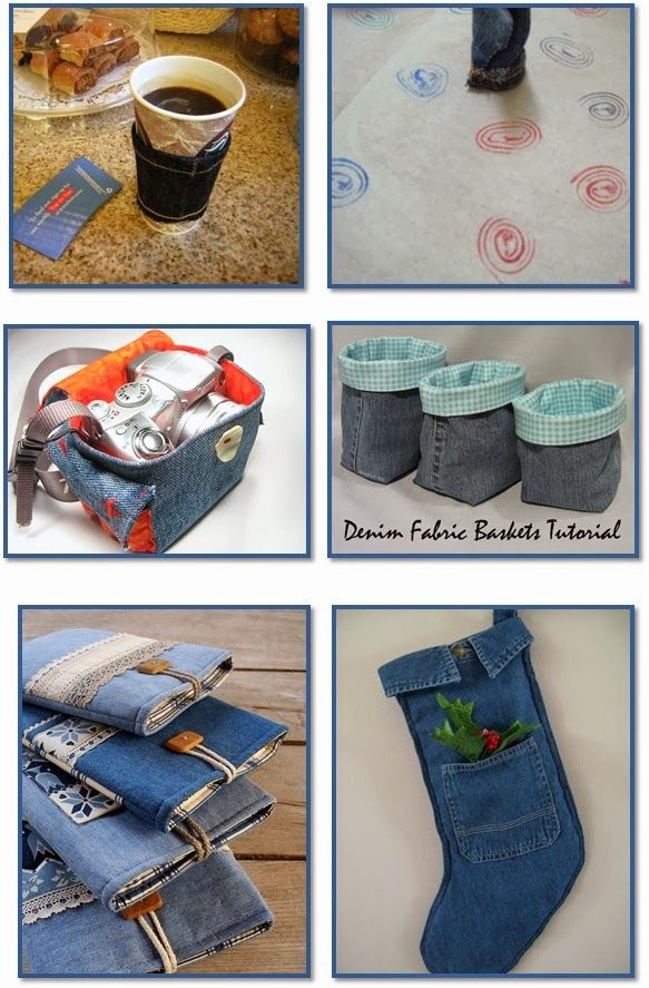 36 Fun Projects from Denim Jeans