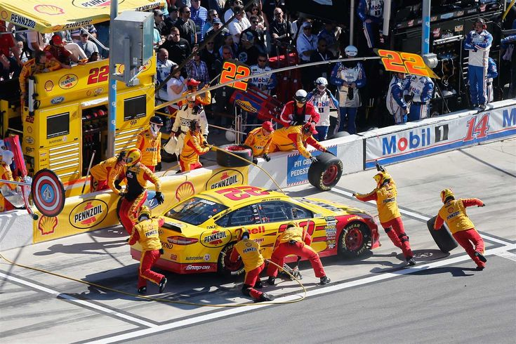 At-track photos: Daytona 500 weekend  Sunday, February 26, 2017  2015 Daytona 500 winner Joey Logano takes his Ford to pit road for adjustments.  Photo Credit: Getty Images
