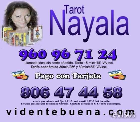 Vidente Buena Nayala 960967124  Consulta tarot Visa  Hola, mi nombre es Nayala, clarividente de nacimiento, esp ..  http://segovia-city.evisos.es/vidente-buena-nayala-960967124-consulta-tarot-visa-id-657153