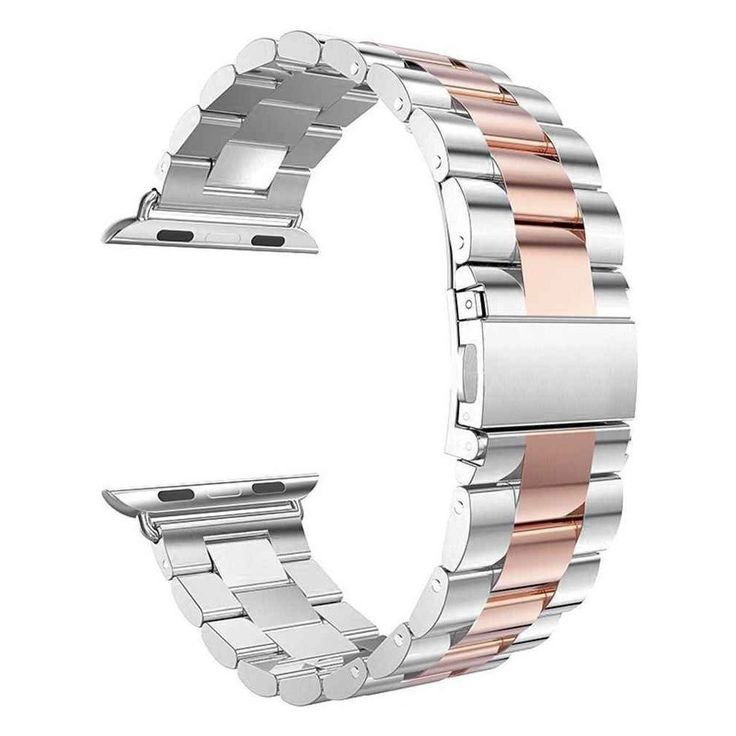 iPM Classic Buckle Watch Band for Apple Watch 38mm - Silver/Rose Gold, Adult Unisex
