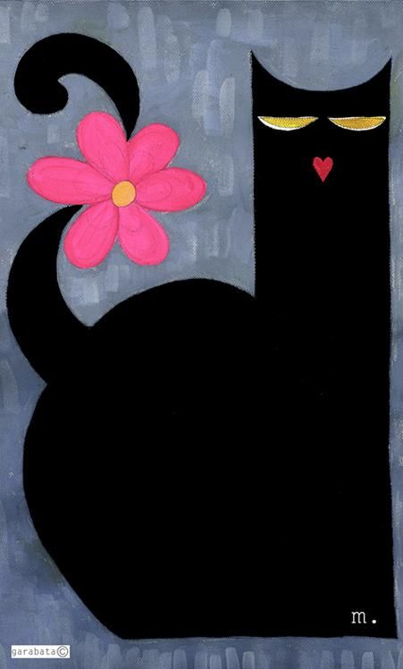 Cats in Art, Illustration, Photography, Decorative Arts, Textiles, Needlework and Design: de GARABATA