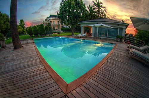 In ground pool decking.  Love it.